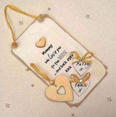 Personalised Best Mum In The World Heart Hanging Decoration Plague Keepsake Gift