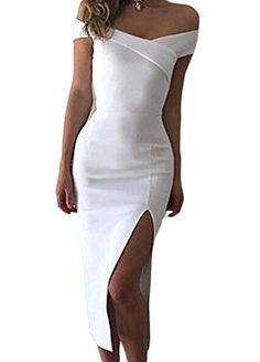 Womens Bandage Dress Off Shoulder Bodycon Side Slit Party... https://www.amazon.com/dp/B0719521Z6/ref=cm_sw_r_pi_dp_x_34wozbX4DFY3C