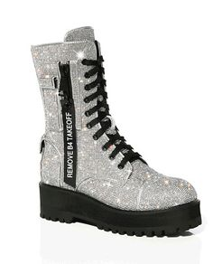 Limited Edition Postergirl Billionaire Bling Boots by Dolls Kill #fashion #clothing #shoes #accessories #womensshoes #boots (ebay link) Kpop Fashion Outfits, Fashion Boots, Sneakers Fashion, Goth Shoes, Shoes Heels Boots, Stylish Boots For Women, Dolls Kill Shoes, Boot Bling, Aesthetic Shoes