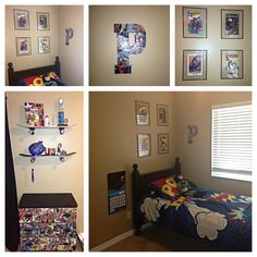 Comic books, modge podge, boys room, superheroes, DYI