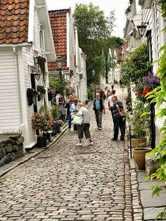 Old Town, Stavanger, Norway.  ASPEN CREEK TRAVEL - karen@aspencreektravel.com