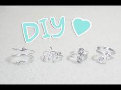 DIY wire rings ♥ 4 ideas ♥ Sofii - YouTube