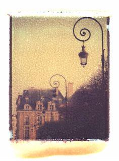 one of my polaroid transfers.  Paris....Like this one. A beautiful polaroid transfer
