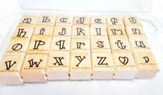 Stampin UP Bold Line Alphabet Rubber STamp set Lower Case  lowercase Alphabet Stamp Retired USED,  Letter Stamps, Scrapbook Title Craft by MyCreativePossession on Etsy