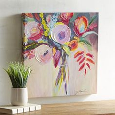 It may not smell like tulips and peonies, but our colorful, hand-painted floral art delivers just as much cheer as a fresh-cut bouquet.