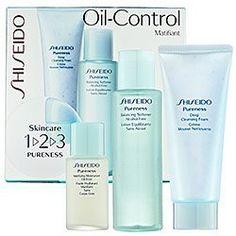 Shiseido Pureness Oil Control 1-2-3 Set Deep Cleansing Foam 2.7oz + Balancing Softener Alc Free 3.3oz + Matifying Moisturizer Oil-Free 1oz by Shiseido. $40.50. Shiseido Pureness Oil Control 1-2-3 Set. **No U.S. Sale Tax** Deep Cleansing Foam 2.7oz + Balancing Softener Alc Free 3.3oz + Matifying Moisturizer Oil-Free 1oz. New in Box. Shiseido Pureness Oil Control 1-2-3 Set Deep Cleansing Foam 2.7oz + Balancing Softener Alc Free 3.3oz + Matifying Moisturizer Oil-Free 1oz