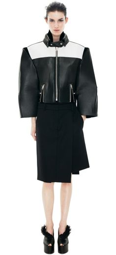 Beautiful leather jacket and skirt by ACNE