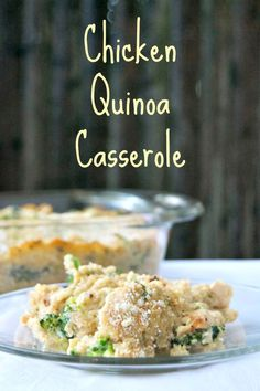 Chicken Quinoa Casserole - a delicious, healthy one-dish meal that can be prepared ahead and baked when ready! Easy Casserole Dishes, Dinner Casserole Recipes, Dinner Recipes, Dinner Dishes, Main Dishes, Side Dishes, Turkey Recipes, Chicken Recipes, Homemade Alfredo