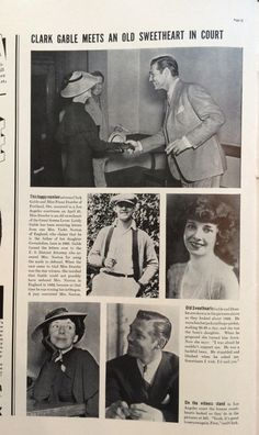 Clark Gable shuts down a paternity suit. LIFE May 3, 1937. 1 of 2.