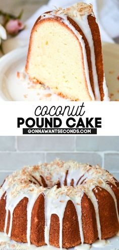 1 reviews · 1.5 hours · Vegetarian · Serves 12 · Rich, dense, buttery, velvety -- and all the coconut tropical escape you could want! This coconut pound cake recipe is your new favorite dessert. Coconut Pound Cakes, Lemon And Coconut Cake, Pound Cake Recipes, Frosting Recipes, Sour Cream Coffee Cake, Cream Cheese Pound Cake, Gourmet Recipes, Dessert Recipes, Old Fashioned Pound Cake