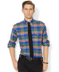 b145b98df5 Men s Green Plaid Bleecker Shirt. Ralph Lauren ...