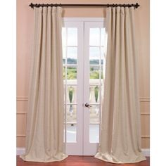 Improving on the usual blackout curtain, The Bellino Collection fabric has a soft, yard dyed texture and comes as pole pocket with back tabs and hookbelt. These ivory curtains keep the light out and provides optimal thermal insulation.
