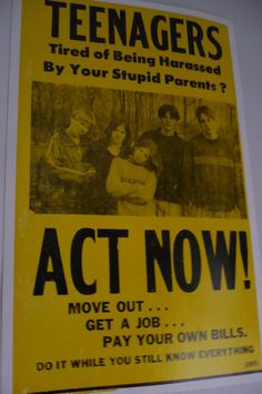 I remember my neighbors growing up had this posted on their front door lol