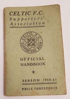 Celtic Wee Green Book : Official Handbook Season 1950 - 51 Very Rare item