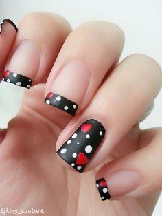 Resultado de imagen para color de uñas negro con rojo