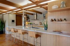 kitchen wall with extended counter