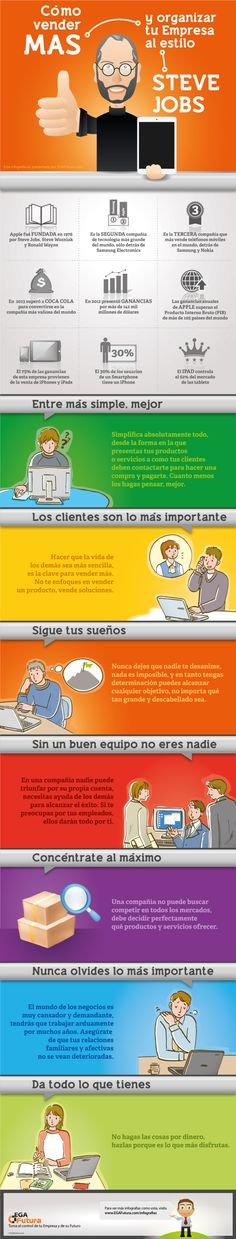 Cómo vender más al estilo Steve Jobs #infografia #infographic #marketing