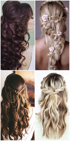 elegant and beautiful wedding hairstyles