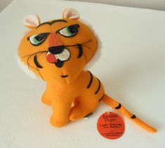ITEM: Adorable Plush Tiger toy Sambo's Restaurant advertising, created exclusively for Sambo's. Copyright dated 1975 by R. Dakin & Company, It has the tush tag and Sambo's tag. Height: About 6 inches. Shipments can be combined for savings in shipping cost for the buyer. Items may be picked up locally in Joplin, Webb City, Carthage, Missouri area. | eBay!