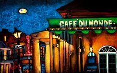 Cafe Du Monde Beignets, World Famous, Artsy, Neon Signs, Awesome, Poster, Hugs, Products, Big Hugs
