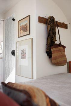 modern-caravan airstream remodel bedroom detail