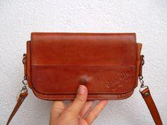 dee131a79b Vintage 70s Small Messenger in Rustic Brown, Aged Leather Satchel, Urban  Shoulder Bag, Minimalist Purse, Boho Clutch, Hippie Crossbody Bag