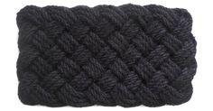 "1'6""x2'6"" Coir Rope Mat, Black"