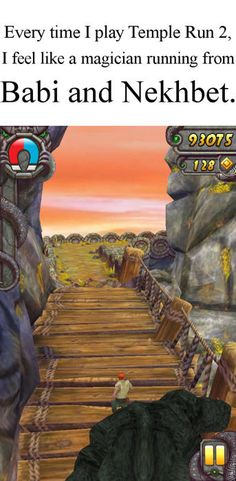 I've never played Temple Run 2, but know I have to, to experience a Sadie Kane moment! :D