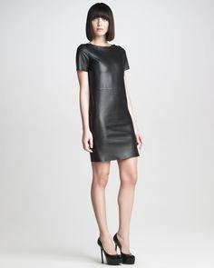 Gojee - Plonge Leather Dress by Saint Laurent Paris