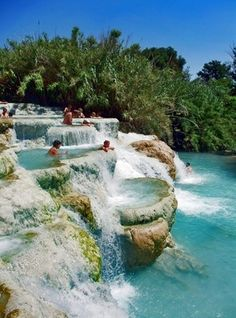 Mineral baths in Tuscany, Italy - Click image to find more travel Pinterest pins