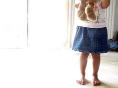 """Una falda    Pattern from """"Mes petits habits"""" by Fumi Kamiyama."""