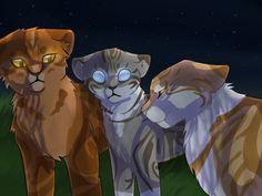 Jayfeather, Lionblaze and Leafpool