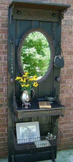 handgemacht Möbel und Dekorationen aus alten Türen spiegel regale