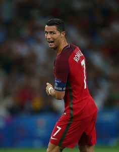 #EURO2016 Cristiano Ronaldo of Portugal during the UEFA Euro 2016 quarter final match between Poland and Portugal at Stade Velodrome on June 30 2016 in...