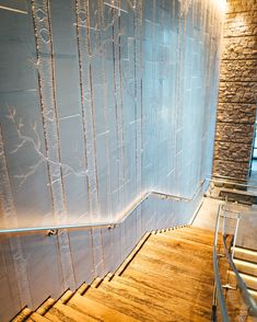 We took the outside and brought it inside. The stairway within the Great Room is line with artwork inspired by the iconic aspen trees found in Tahoe's forest. It's these little details that make this place Interior Design by HBA Design Hba Design, Edgewood Tahoe, Aspen Trees, Rustic Elegance, Lake Tahoe, Stairways, Lodges, Great Rooms, Interior Design