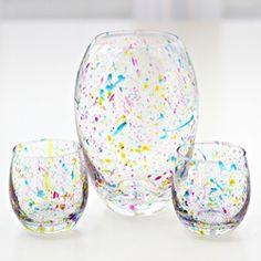 Splatter Paint Vases