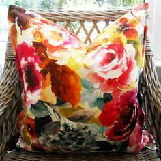 Multi Floral Scatter Cushion with Oxford Edge Available including or excluding feather and down inner and in various sizes Cotton - Cold Wash Lead time +- Scatter Cushions, Throw Pillows, Feather, Indoor, Boutique, Floral, Beautiful, Interior, Toss Pillows