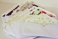 fabric lined envelopes! - see kate sew