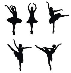 Ballerina silhouettes - Maybe I could trace with melted chocolate to make cupcake toppers? Ballerina Silhouette, Silhouette Vector, Silhouette Pictures, Ballet Cakes, Ballerina Cakes, Ballerina Birthday, Ballerina Room, Silhouette Projects, Art Plastique