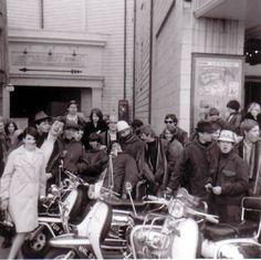 Sixties mod scene Mod Scooter, Lambretta Scooter, Piaggio Vespa, Mod Shoes, Acid House, Mod Girl, Youth Culture, Pop Culture, Retro Pop
