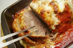 Cheesy Supreme Mozzarella Meatloaf     I love this cheesy supreme Mozzarella Meatloaf. I had never thought of making it this way and adding mozzarella or spaghetti sauce to this!…