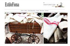 Ideal para la decoración de la cocina.  Textiles de otros tiempos.  Antiguas bolsas de harina, etc.  #decoración #hogar #vintage #textiles