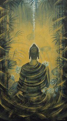 Bouddha. Présence Peinture