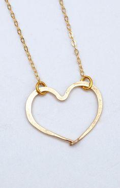 Too sweet heart gold silver rose gold necklace by makepienotwar, $36.00