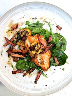These basa fillets with bacon and spinach are budget friendly dish to feed the family.