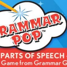 It's an iPad game like no other!  Grammar Pop- Learn the Parts of Speech (4th grade and up)