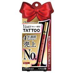 Limited K-Palette 1Day Tattoo Real Lasting Liquid Eyeliner Black WP Makeup JAPAN #kpalette