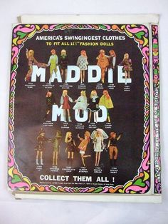 Groovy 1970 Maddie Mod Doll Outfit, in Original Package by Mego! I will be listing more Maddie Mod outfits, and I'm happy to combine shipping on multiple purchases, just ask!