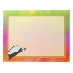 Unlined Puffin Colorful Pallette 8.5x11 Note Pad