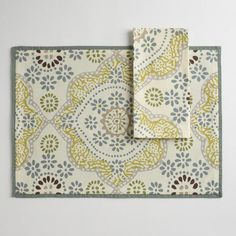 Mosaic Tile Napkins, Set of 4   World Market, this is our color inspiration for the first floor!